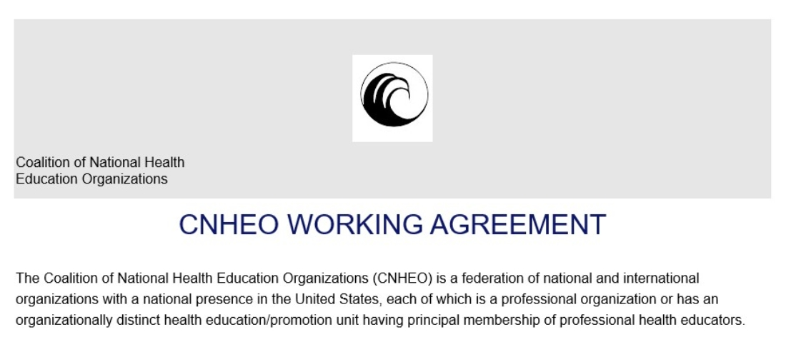 CNHEO Working Agreement Slide