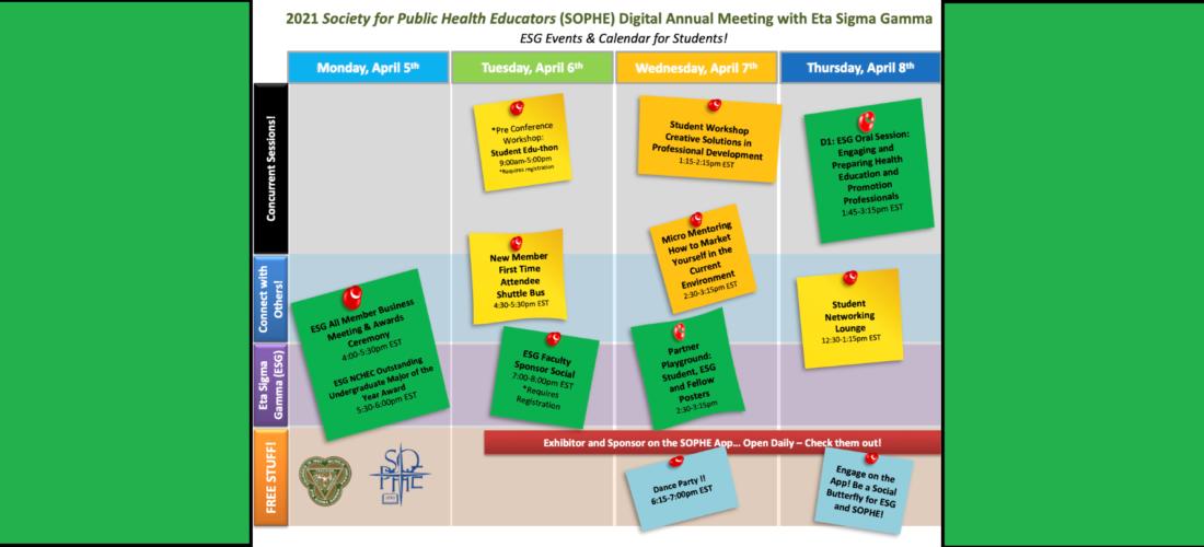 SOPHE 2021 ESG Student EventsSlider